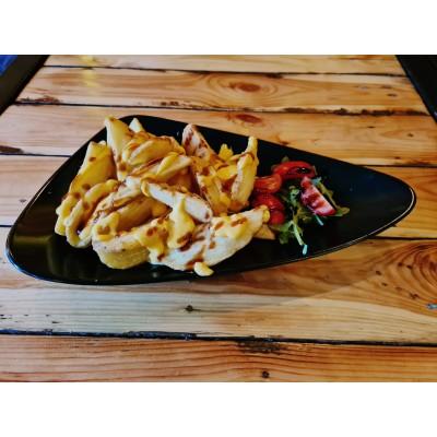 Cartofi Crispers cu sos de brânză cheddar și bbq - 250g