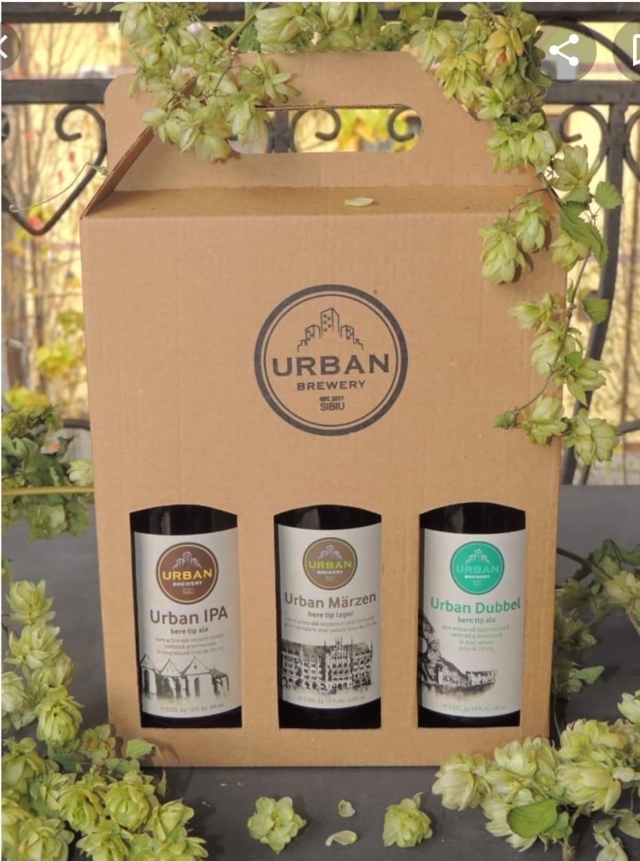 BERE URBAN - PACHET CADOU 3 STICLE 0,33 litri